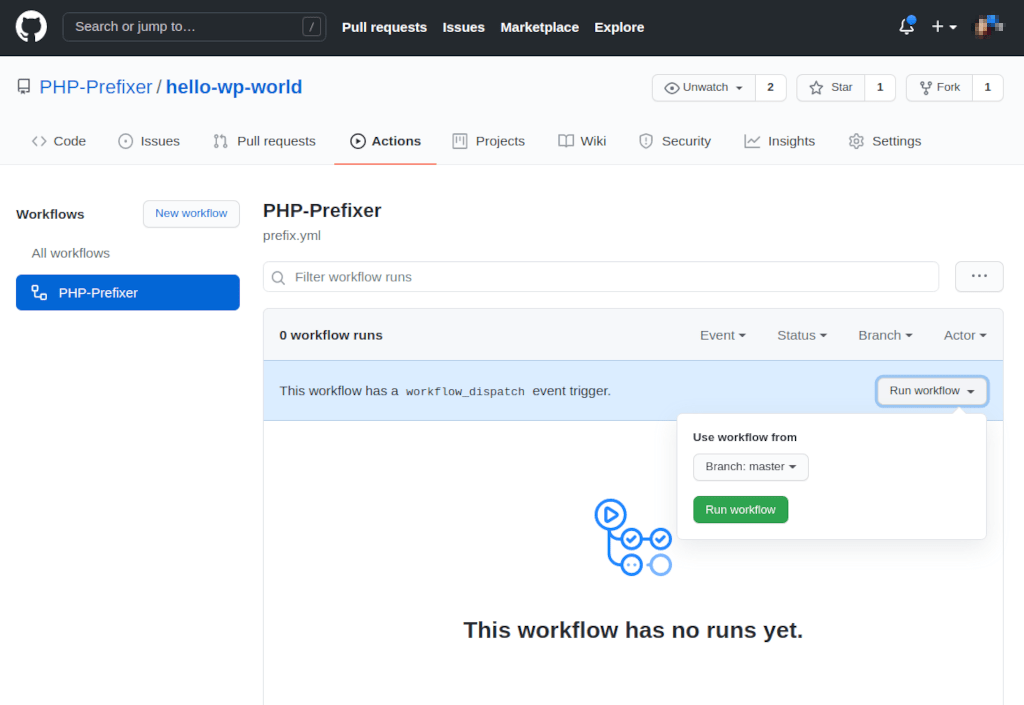 Step 1: Run the GitHub Action